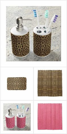 Leopard Print Bathroom Accessories