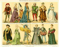 Medieval clothing from the 14th and 15th centuries