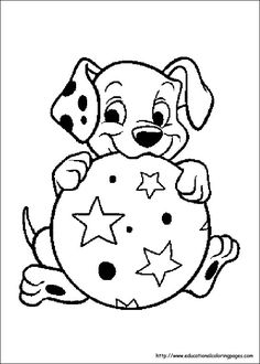 Free Printable Coloring Pages  101 Dalmation Coloring Sheets