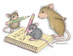 """Amanda,  Monica and friend from House-Mouse Designs featured on the The Daily Squeek® for October 7th, 2013. Click on the image to see it on a bunch of really """"Mice"""" products."""