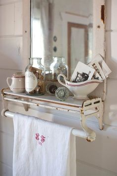 Harking back to an era when everyday objects were crafted to last, this French cottage is inspiration for Tim and Brenda DeWitt. White Cottage, French Cottage, Country Farmhouse Decor, Farmhouse Chic, French Farmhouse, French Decor, French Country Decorating, Romantic Cottage, Romantic Kitchen