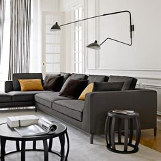 Modular sofa / traditional / leather / by Antonio Citterio LUCREZIA ''TO SIZE'' MAXALTO