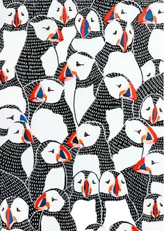 puffin drawing pattern
