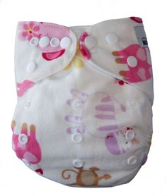 Brand New Reusable Modern Cloth Nappy + Microfiber Insert MCN Minky Blue Dots