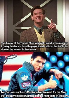 Fun and creepy movie facts. The Truman Show gave me nightmares as it is... I will be forever grateful that they didn't make it that much worse!