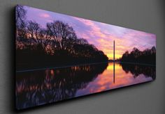 The Washington Monument at sunrise - Canvas Canvas Frame, Sunrise, Washington, Marvel, Washington State, Sunrises