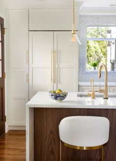 Design Manifest Kitchen- Pantry and Paneled Refrigerator
