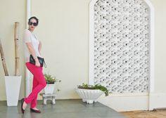 Look: Blusa metalizada e calça pink. Como usar a mesma blusa em diferentes ocasiões. | Back ago, I've wrote a post on how to wear the same top on different occasions. #ootd