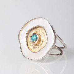 Magic Rockpool Opal Ring - Find ToriXO jewellery at Boutique Joliette in Halifax Opal Rings, Gemstone Rings, Opal Rock, Lightning Ridge, Rock Pools, Black Opal, Craft Fairs, Metal Art, Silver Jewelry