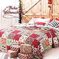 Bedsure Weihnachten Tagesdecke 220 X 240 Cm Couch Sofa Uberwurf
