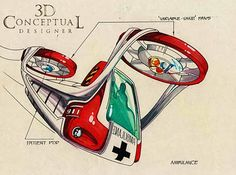 Flying Ambulance concept by a concept artist