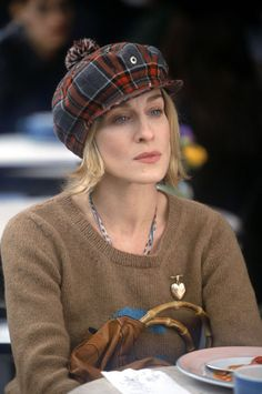 Carrie Bradshaw.  This pic is from the episode where she learns she's going to put her columns into a book.