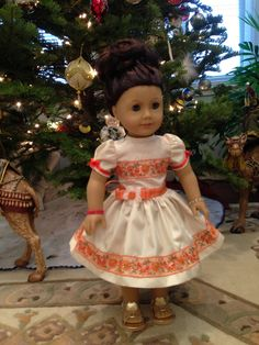 Peaches and Cream, Doll Dress 2013 Collection  - fits 18 inch American Girl Style Doll - 1. $34.99, via Etsy.