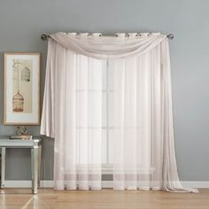 Shop for Window Elements Diamond Sheer Voile 216-inch Curtain Scarf. Free Shipping on orders over $45 at Overstock.com - Your Online Home Decor Outlet Store! Get 5% in rewards with Club O! - 20862467