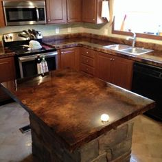 Exceptionnel 42 Stunning Kitchen Concrete Countertop Ideas