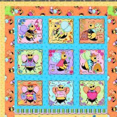 Bee Quilt Pattern | AllFreeSewing.com