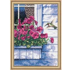 Amazon.com: Dimensions Needlecrafts Counted Cross Stitch, Flowers & Hummingbird: Arts, Crafts & Sewing