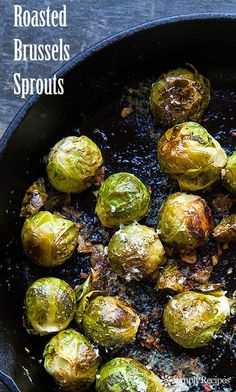 Parmesan Roasted Brussels Sprouts, with lemon and garli...