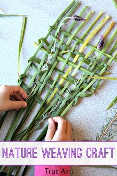 Simple Nature Weaving Craft for Kids - Love this calming beginning sewing activity!