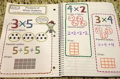 3rd Grade Interactive Math Notebook - Operations & Algebraic Thinking at Create●Teach●Share
