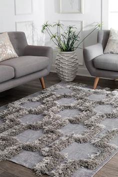 Rugs USA Silver Pristina Bloc Shag rug - Contemporary Rectangle x Contemporary Rugs, Contemporary Interior, Modern Rugs, Rectangle Area, Shaggy Rug, Rugs Usa, Cool Rooms, Game Room, Colorful Rugs