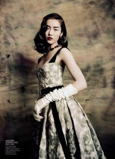 Liu Wen for Vogue China, September 2010 by Paolo Roversi - wearing Louis Vuitton