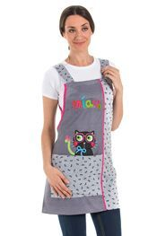 Estola , casullas de profesora. Estola con bordado. Estola con gatito.Batas y estolas de maestra. Nurse Costume, Bandana, Teacher Outfits, Baby Knitting, Hand Embroidery, Apron, Tank Man, Patches, Costumes