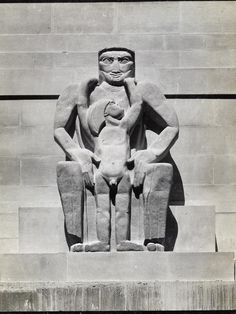 Jacob Epstein 'Day' 1928, from the London Underground building.