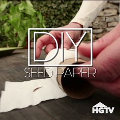 DIY Seed Paper For the Garden