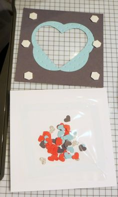 Julie's Stamping Spot -- Stampin' Up! Project Ideas Posted Daily: AW21: Pictogram Punches Love Card + Mini Hearts Shaker Card