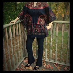 """Selling this """"Unique unique beautiful detailed tunic"""" in my Poshmark closet! My username is: cyncyn567. #shopmycloset #poshmark #fashion #shopping #style #forsale #Tops"""
