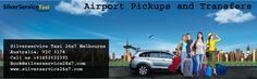 Airport pickups and transfers Melbourne is the right place to book your airport transfer to any hotel or any address in Melbourne, Tullamarine, and Avalon. You can pre-book and pay online via credit cards from Book@silverservice24x7.com