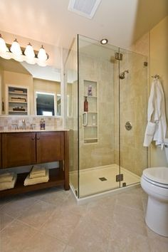 The new layout looks large - modern - Bathroom - Philadelphia - James C Schell