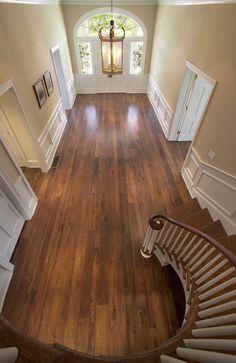 Beautiful staircase, moulding & wood flooring