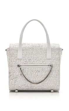 Shop Peroxide Heavy Cracked Chastity Large Satchel With Rhodium Hardware by Alexander Wang for Preorder on Moda Operandi