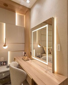 Wardrobe Design Bedroom, Room Design Bedroom, Room Ideas Bedroom, Home Room Design, Home Decor Bedroom, Modern Bedroom, Flur Design, Dressing Room Design, Modern Dressing Table Designs