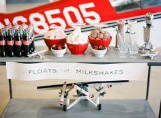 Milkshake and float bar