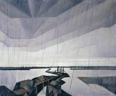 """Flooded Trench on the Yser"" by Cristopher R. W. Nevinson (1918)"