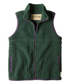 Look at this Woodsy Green Cozy Sherpa Vest on #zulily today!