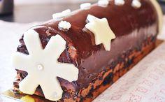 Bûche chocolat et vanille