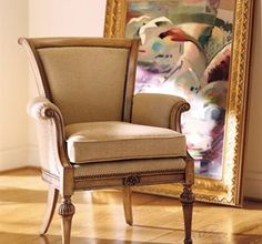 Catherine Chair from the Henredon Upholstery collection by Henredon Furniture Chair Bench, Wingback Chair, Armchair, Upholstered Accent Chairs, Furniture Upholstery, Furniture Chairs, High Quality Furniture, Take A Seat, Decorating Your Home