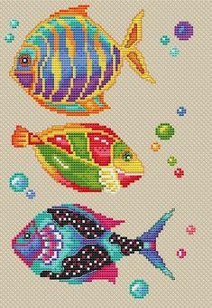 Cross Stitch Sea, Cross Stitch Fruit, Beaded Cross Stitch, Cross Stitch Animals, Counted Cross Stitch Patterns, Cross Stitch Designs, Cross Stitch Embroidery, Embroidery Patterns, Bead Loom Patterns