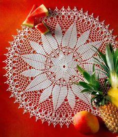 Crochet Art: Crochet Doily with free Crochet Pattern - Simple Flower Art Au Crochet, Crochet Motifs, Crochet Stitches Patterns, Doily Patterns, Crochet Home, Thread Crochet, Irish Crochet, Crochet Designs, Crochet Doilies