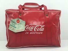 Vintage RARE 1980s Coca Cola Ice Cooler Chest Vinyl Bag Caris Art ORG Tag 24   eBay