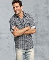 Washed out jeans with relaxed button up shirt!