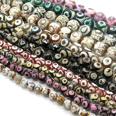 Bulk eye Dzi beads 11 strands 8mm14mm size by SuperBeadsSupplier