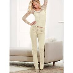Victoria's Secret The Low Five Skinny Pant In Corduroy ($56) via Polyvore