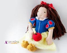 Snow White Waldorf doll clothes doll by APlusJewelryCrafts on Etsy