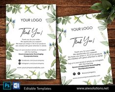 Edit able business thank you card, Editable stylish Thanks Cards, Chic Thank You Cards,Marketing card, thank you for your order card. #MiniTags #ThankYouCard #OrderThankYouCard #ProductPackaging #FoldedThankYou #BusinessMarketing #BusinessStationery #ThankYouCards #WeddingThankYou #Postcard