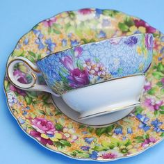 Floral Occupied Japan Demitasse Teacup and by StarfishCollectibles